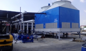 What are cooling tower fill materials?