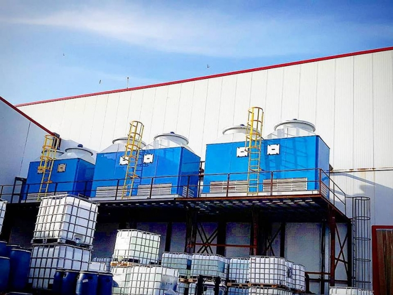 Certified wet cooling tower Greece Cooling tower working